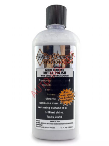 White Diamond Metal Polish & Sealant, Liquid, Removes Oxidation, Brilliant Shine